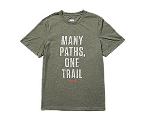 One Trail Topo Tee, Olive Heather, dynamic