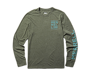 Stack Long Sleeve Tee, Olive Heather, dynamic