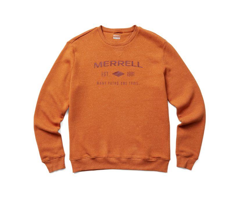 Merrell Est 1981 Wordmark Crewneck Pullover, Burnish Heather, dynamic
