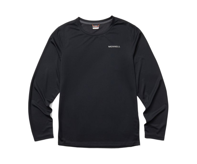 Terrain Long Sleeve Tee, Black, dynamic