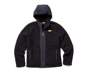 Hibernate Full Zip Hoody Fleece, Black, dynamic