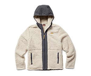 Hibernate Full Zip Hoody Fleece, Moonbeam, dynamic