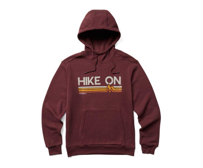 Keep Hiking On Hoody, Burgundy, dynamic