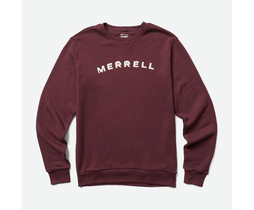 Merrell Ice Fleece Crew, Burgundy, dynamic