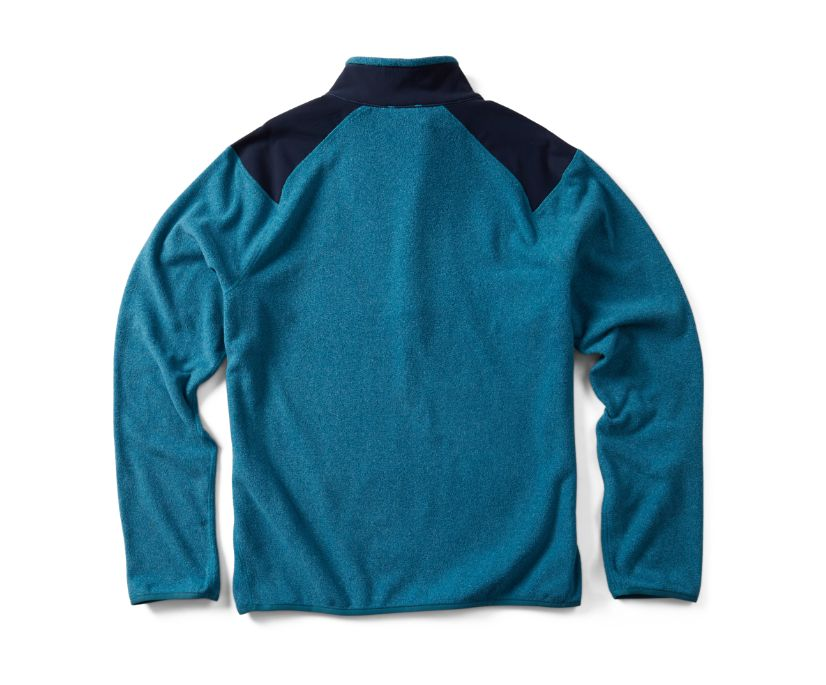 Flux Lightweight Hybrid 1/4 Zip, Dragonfly Heather, dynamic