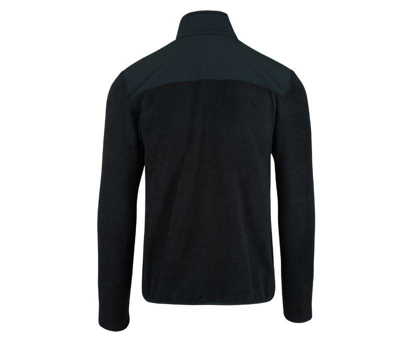 Flux Mid-Weight Hybrid Full-Zip Polar Fleece, Black, dynamic