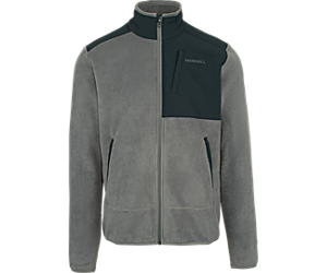 Flux Mid-Weight Hybrid Full-Zip Polar Fleece, Castlerock, dynamic