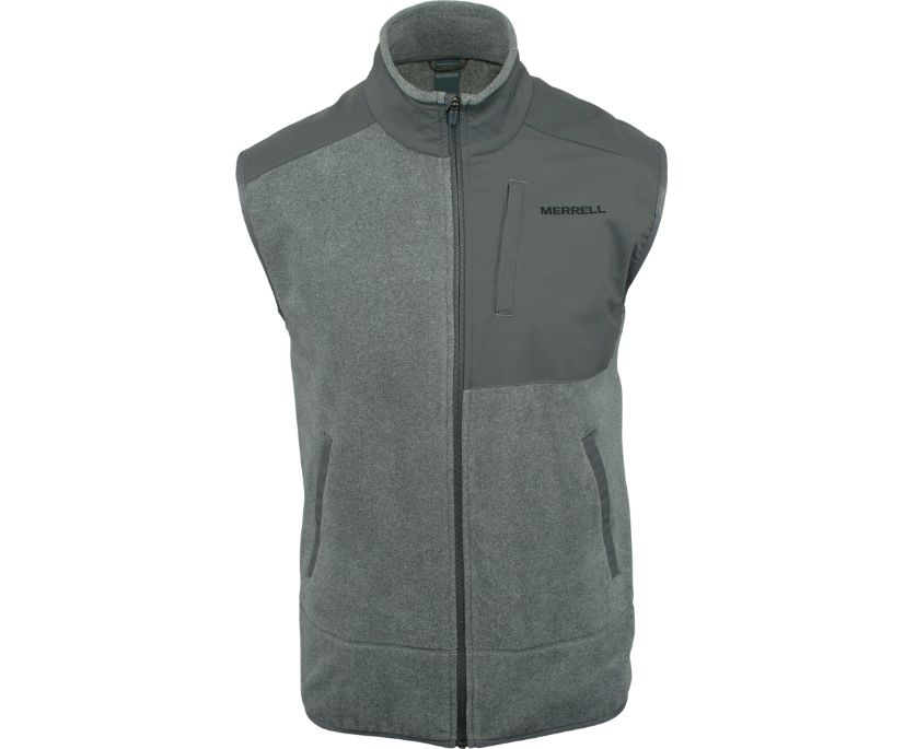 Flux Mid-Weight Hybrid Vest Polar Fleece, Asphalt, dynamic
