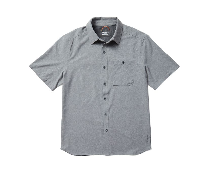 Entrada III Short Sleeve Button Down, Asphalt Heather, dynamic