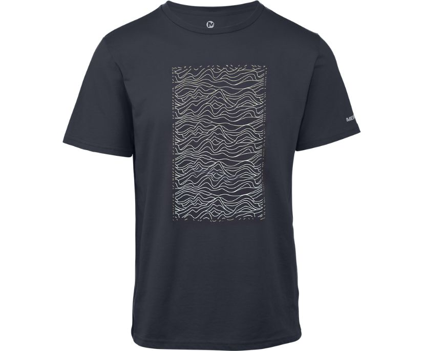 Hills Graphic T-Shirt, Navy, dynamic