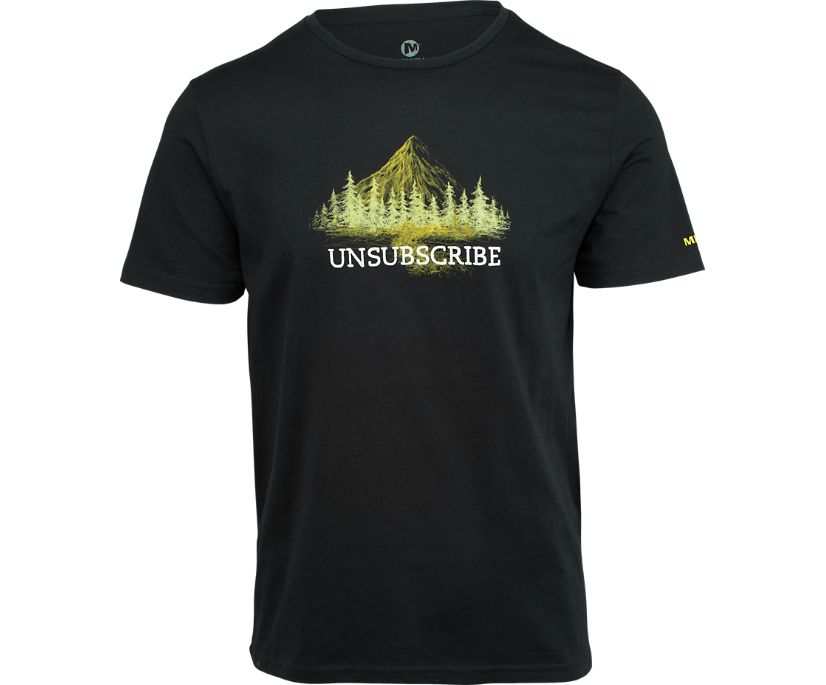 Unsubscribe Graphic T-Shirt, Black, dynamic