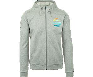 Cloudview Graphic Fleece, Grey Heather, dynamic