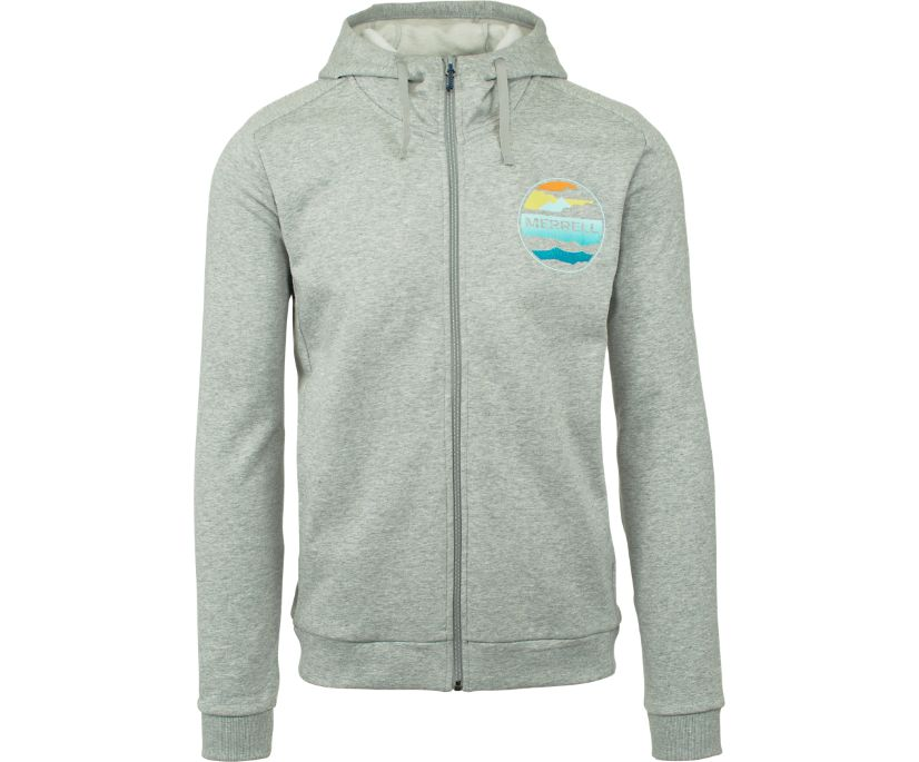 Cloudview Graphic Fleece, Grey Heather, dynamic
