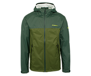 Fallon Rain Jacket, Forest/Chive, dynamic