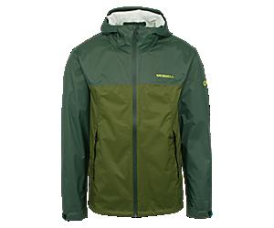 Fallon Rain Jacket, Forest/Chive, dynamic