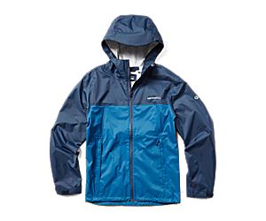 Fallon Rain Jacket, Navy/Poseidon, dynamic