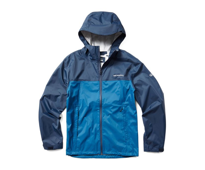 Fallon Rain Jacket, Navy/Poseidon, dynamic