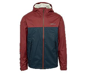 Fallon Rain Jacket, Brick/Navy, dynamic