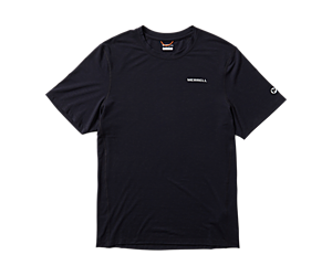 Tencel Short Sleeve Tee, Black, dynamic