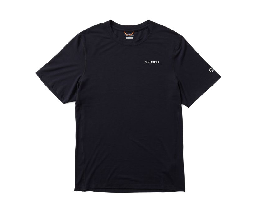 Tencel Short Sleeve Tee, Black, dynamic