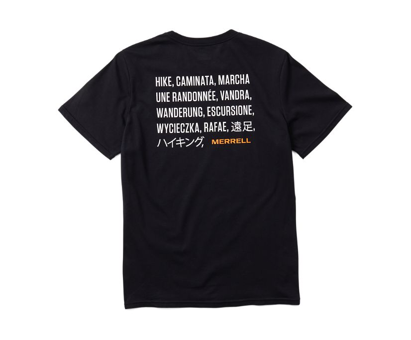 Hike Translate Short Sleeve Tee, Black, dynamic