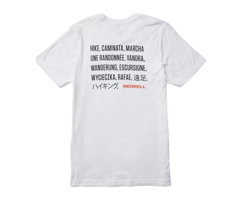 Hike Translate Short Sleeve Tee, White, dynamic