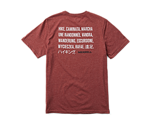 Hike Translate Short Sleeve Tee, Burgundy Heather, dynamic