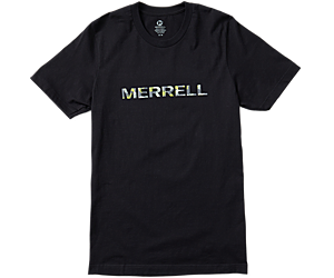 Wordmark Short Sleeve Tee, Black, dynamic
