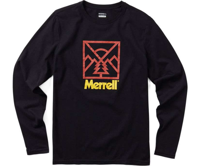 Stamp Long Sleeve Tee, Black, dynamic