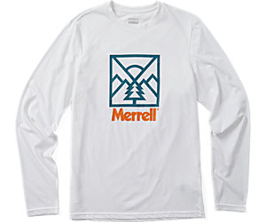 Stamp Long Sleeve Tee, White, dynamic