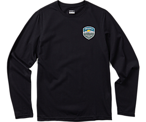 Trail Badge Long Sleeve Tee, Black, dynamic