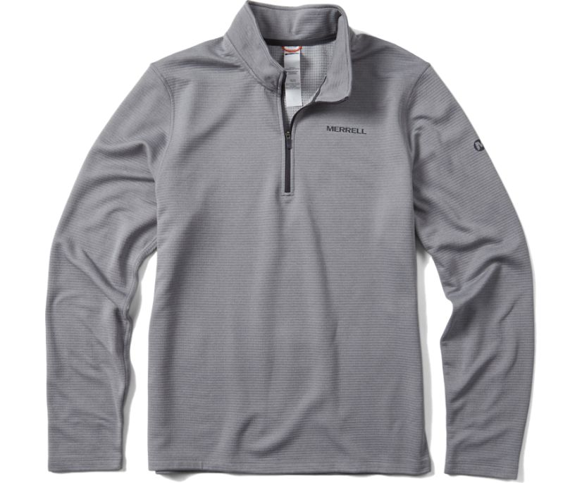 Entrada Geotex 1/4 Zip, Monument, dynamic
