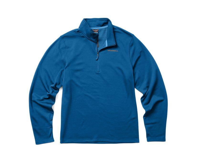 Terrain Geotex 1/4 Zip, Blue, dynamic