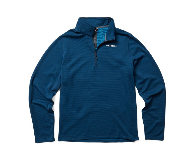 Terrain Geotex 1/4 Zip, Navy Heather, dynamic