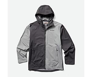 Whisper Rain Jacket, Asphalt/Monument, dynamic
