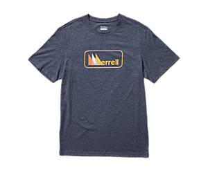 Triangle Short Sleeve Tee, Navy Heather, dynamic