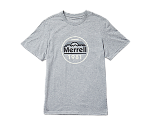 Merrell Circle Short Sleeve Tee, Grey Heather, dynamic