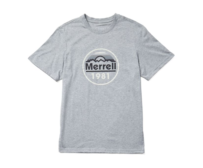 Merrell Circle Short Sleeve Tee, Grey Heather, dynamic