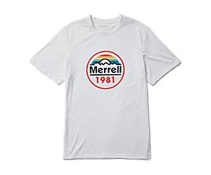 Merrell Circle Short Sleeve Tee, White, dynamic
