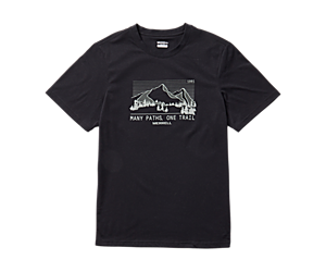 Mountain Range Short Sleeve Tee, Black, dynamic