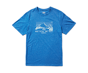 Mountain Range Short Sleeve Tee, Royal Heather, dynamic