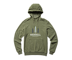 Triple Tree Pull Over Hoodie, Lichen Heather, dynamic