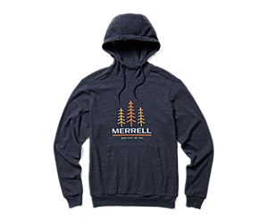 Triple Tree Pull Over Hoodie, Navy Heather, dynamic