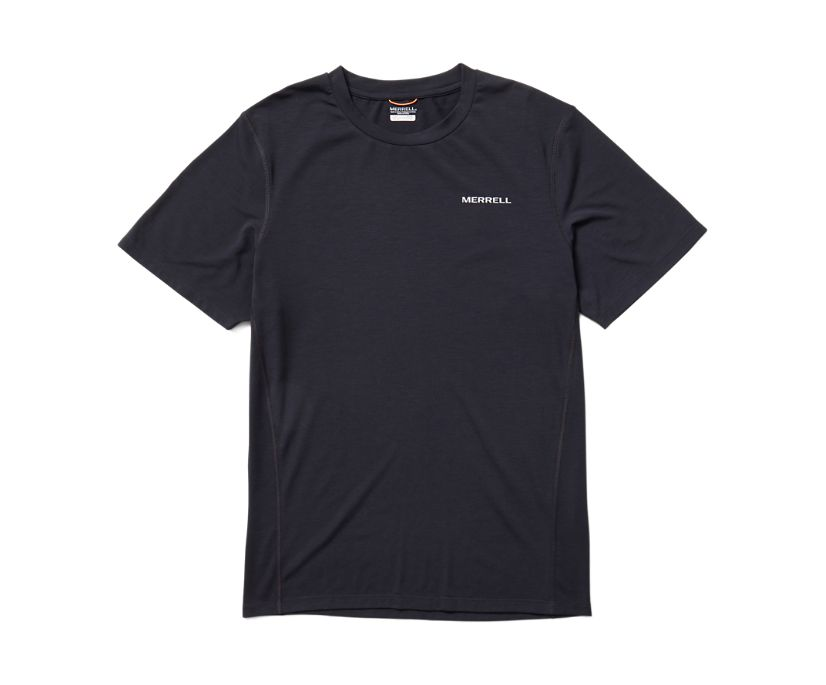 Tencel™ Short Sleeve Tee, Black, dynamic