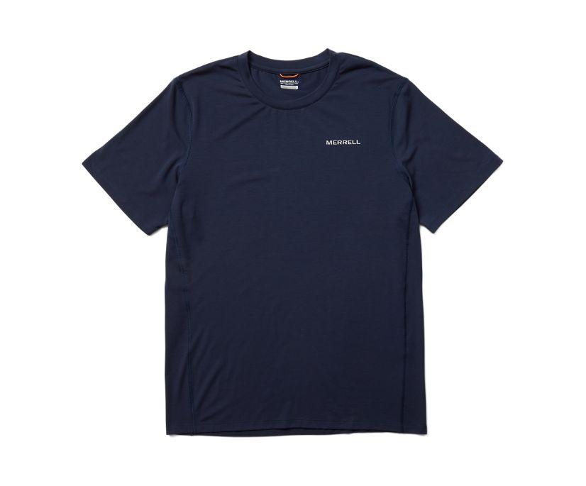 Tencel™ Short Sleeve Tee, Navy, dynamic