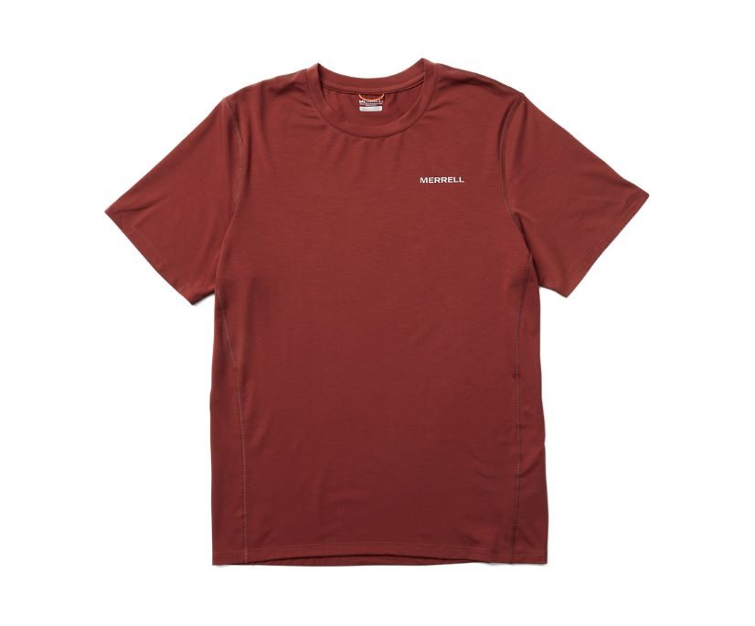 Tencel™ Short Sleeve Tee, Brick, dynamic