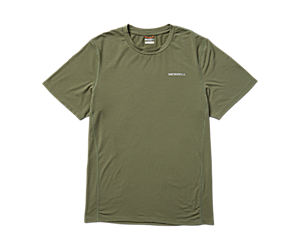 Tencel™ Short Sleeve Tee, Lichen/Kombu Stripe, dynamic