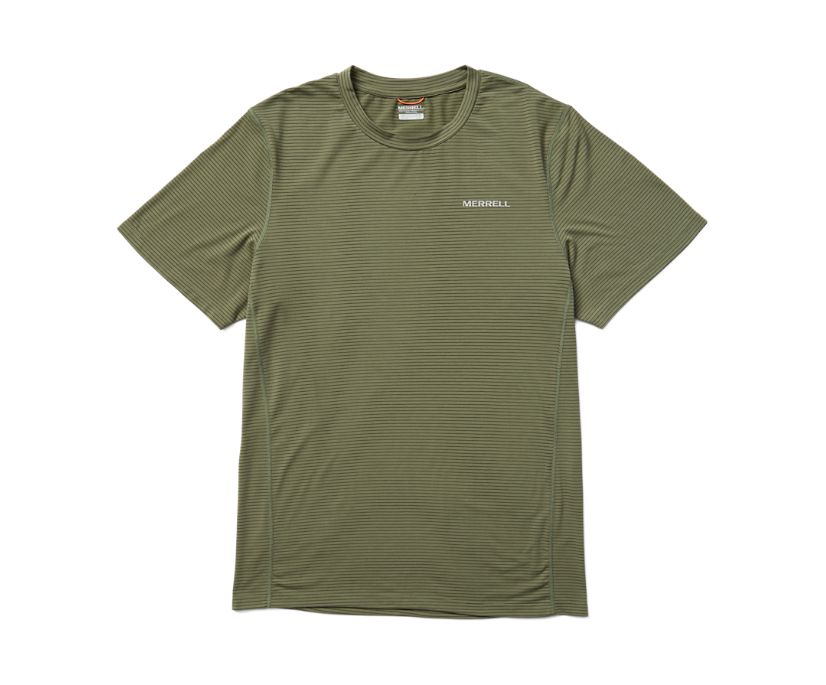 Tencel™ Short Sleeve Tee, Lichen/Kombu Stripe, dynamic