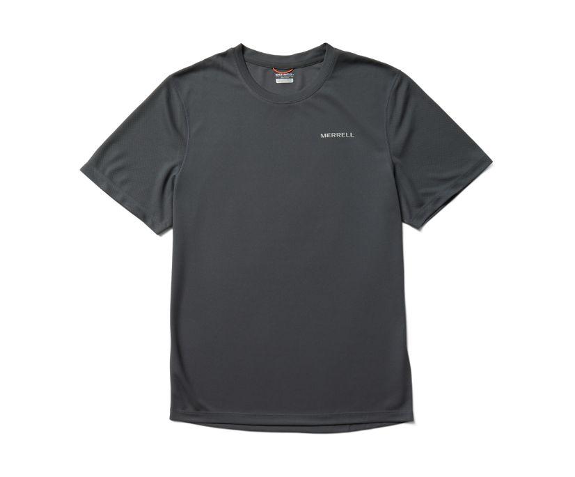 Terrain Short Sleeve Tech Tee, Asphalt, dynamic