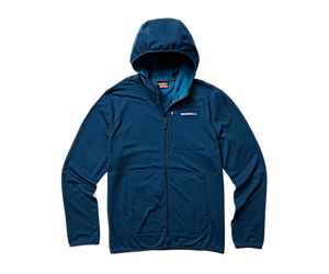 Terrain Geotex Full Zip Hoodie, Navy Heather, dynamic